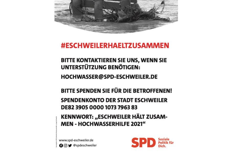 Spendenaufruf für Stadt Eschweiler
