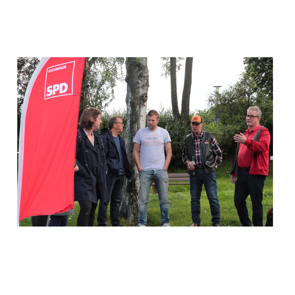 SPD-Stand in Hehlrath 10-08-2021